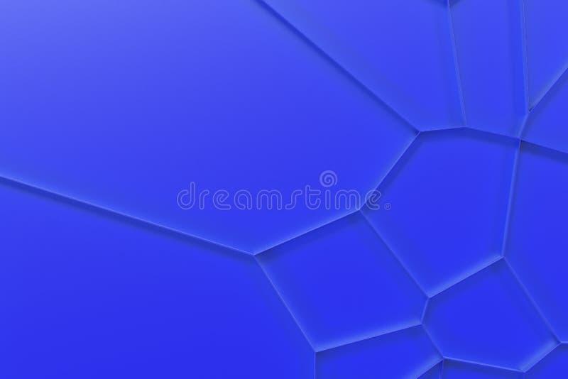 Abstrakcjonistyczna barwiona 3d voronoi kratownica na barwionym tle ilustracja wektor
