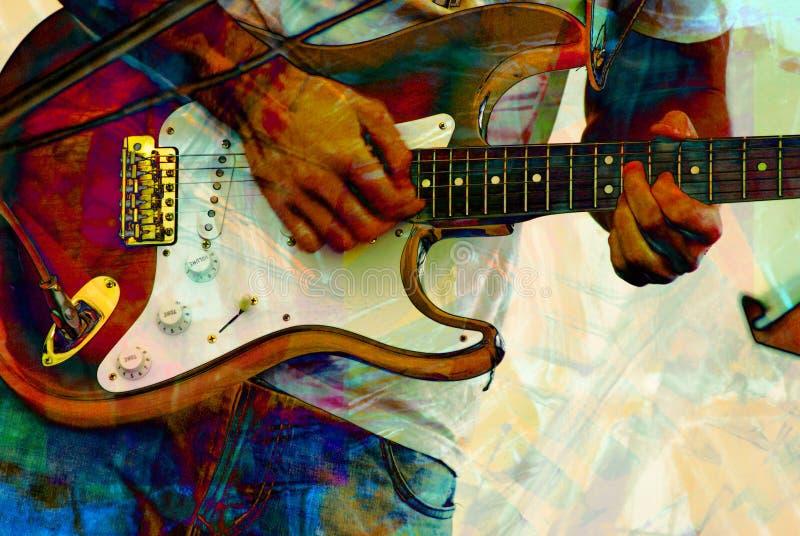 Abstrakcjonistyczna basowa gitara ilustracja wektor