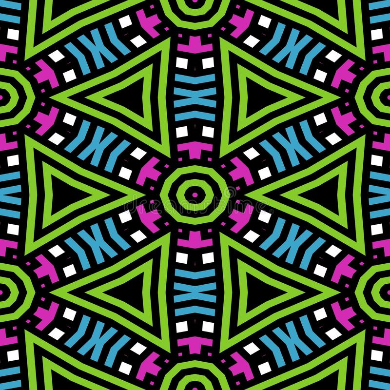 Abstrakcjonistyczna bezszwowa tekstura lub tło z czarnymi liniami ilustracja wektor
