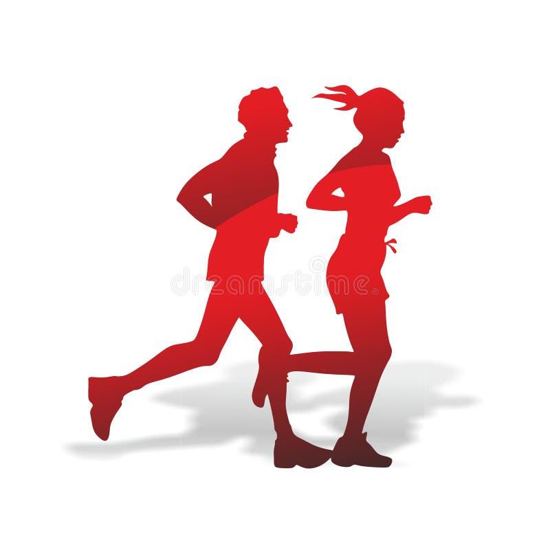 Abstrakcjonistyczna biegacz sylwetka royalty ilustracja