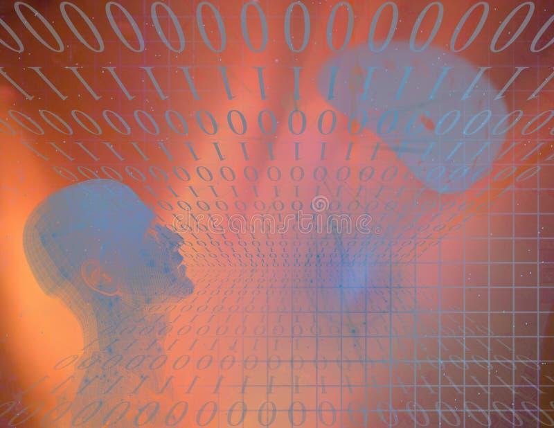 abstrakcjonistyczna binarna postać ilustracja wektor