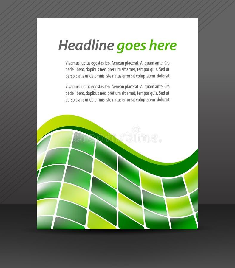 Abstrakcjonistyczna biznesowa ulotka dla projekta, korporacyjny sztandar ilustracja wektor