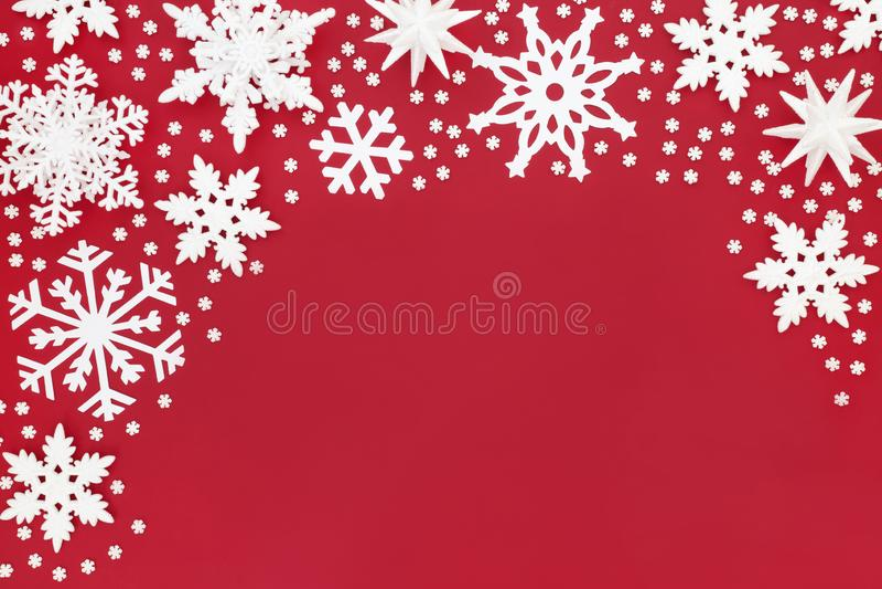 Abstrakcjonistyczna Bożenarodzeniowa płatek śniegu granica zdjęcia royalty free