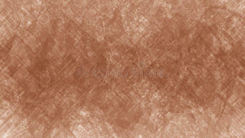 Abstrakcjonistyczna brąz tekstura dla tła, ilustracja materiału kamienia płytka lub tkaniny tekstura, folowaliśmy ramę, brązu kol royalty ilustracja