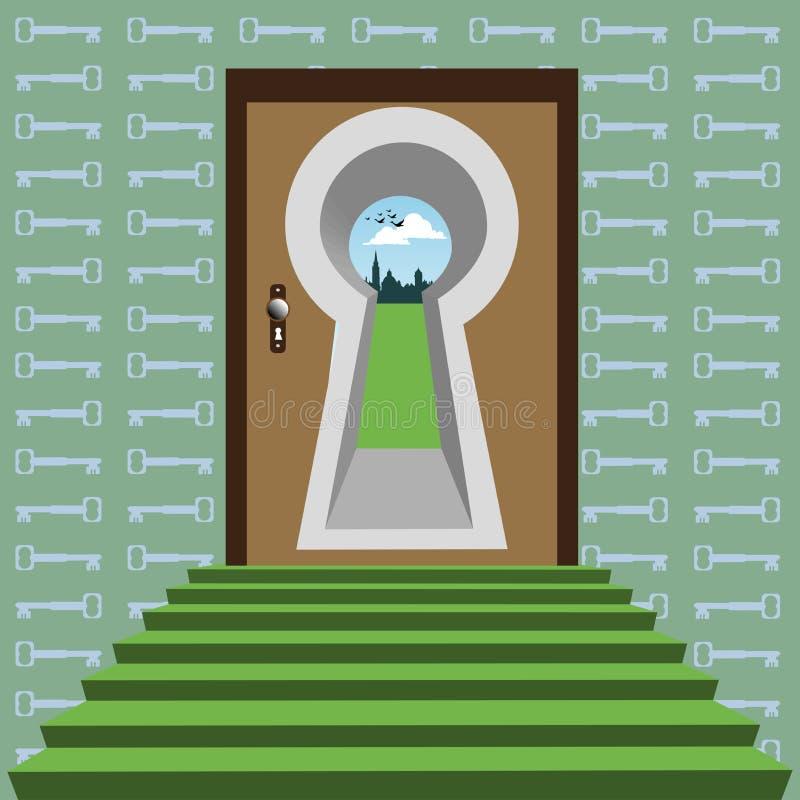 abstrakcjonistyczna brama ilustracji
