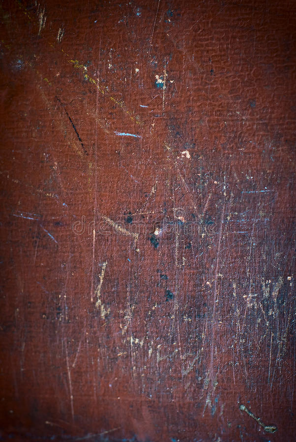Abstrakcjonistyczna brown tekstura z plamami, narysami i scuffs z wiekiem, Vignetting przy krawędziami powierzchnia Stubarwny scu obraz royalty free