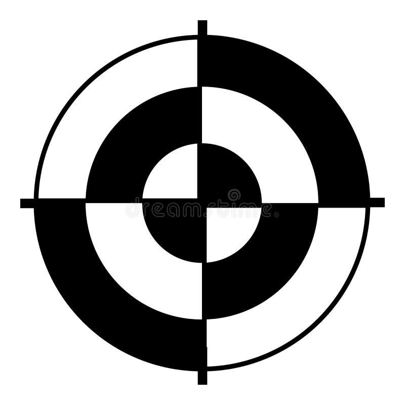 Abstrakcjonistyczna cel ikona, prosty styl royalty ilustracja