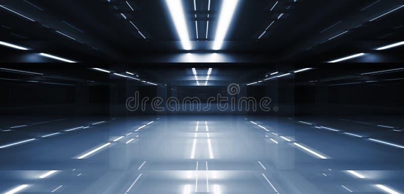 Abstrakcjonistyczna ciemna tunelowa perspektywa 3d royalty ilustracja
