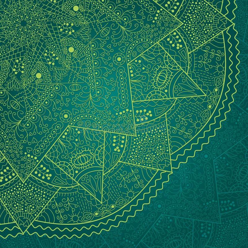 Abstrakcjonistyczna Ciemnozielona Koronka royalty ilustracja