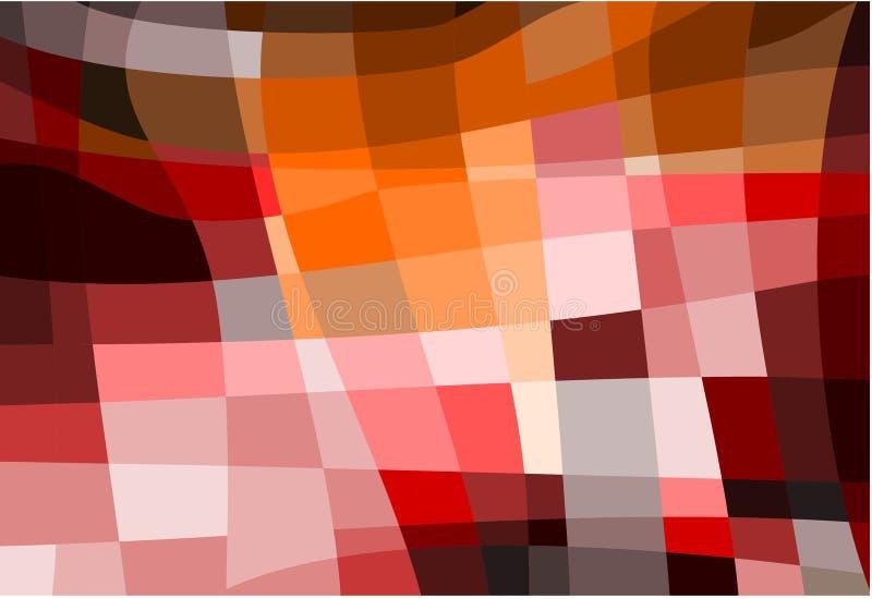 Abstrakcjonistyczna colourful geometryczna mozaika kształtuje tło ilustracja wektor