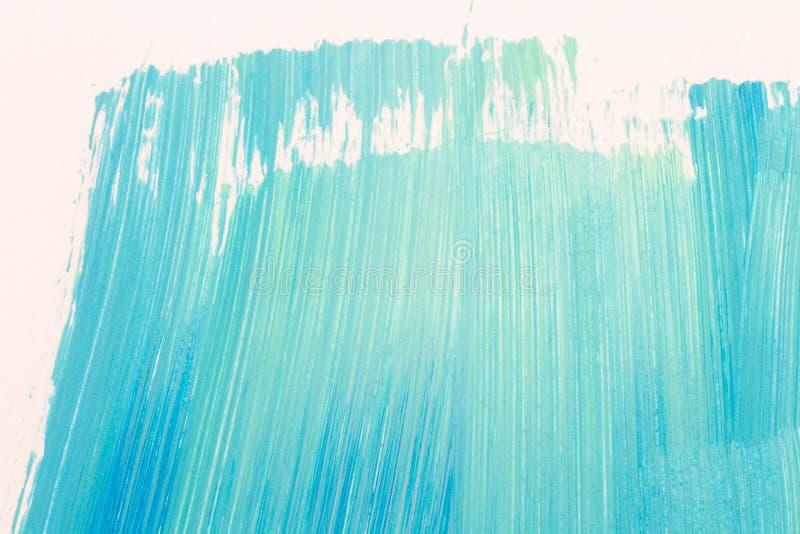 Abstrakcjonistyczna cyan ręka malujący tło royalty ilustracja