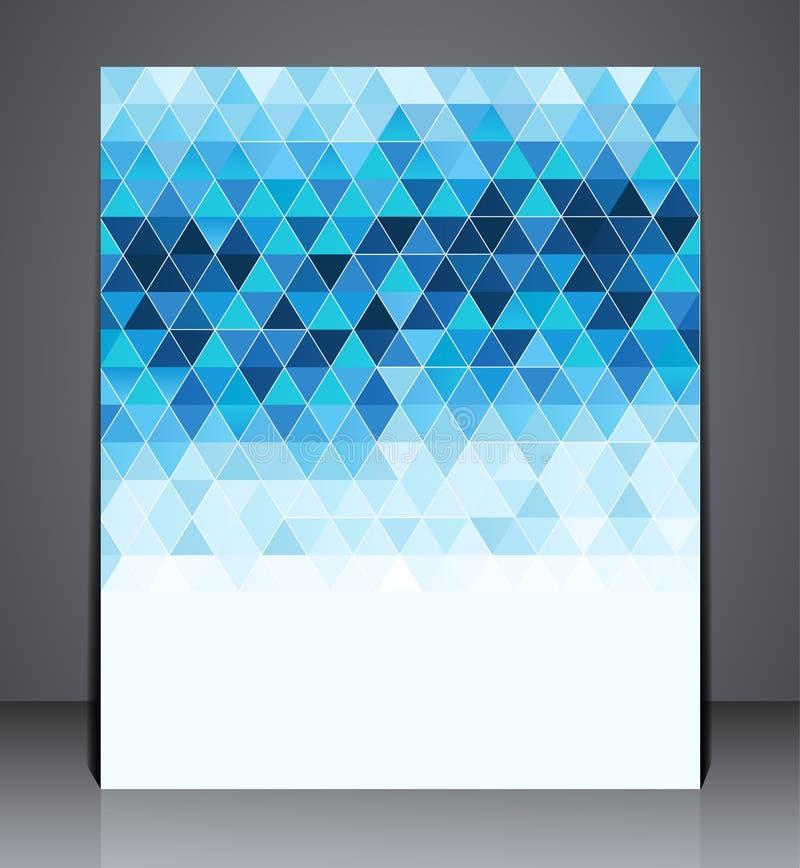 Abstrakcjonistyczna cyfrowa biznesowa broszurki ulotka, geometryczny projekt w A4 rozmiarze ilustracja wektor