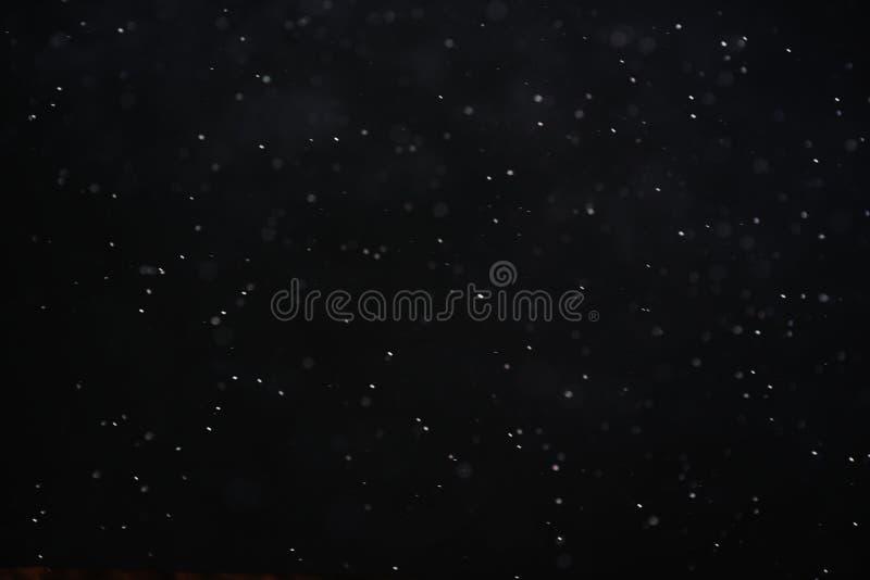 Abstrakcjonistyczna czarna biała śnieżna tekstura na czarnym tle dla narzuty obrazy stock
