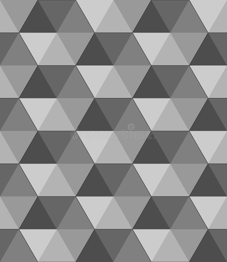 Abstrakcjonistyczna Czarny i biały geometryczna wektorowa tapeta sześcianu deseniowy tło ilustracji