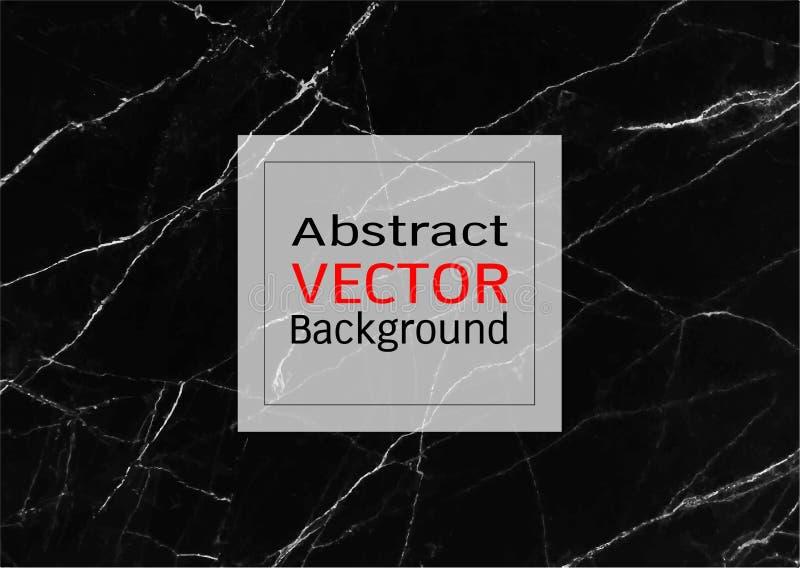 Abstrakcjonistyczna czerń marmuru tekstura, wektoru deseniowy tło, Modna szablon inspiracja dla twój projekta ilustracja wektor
