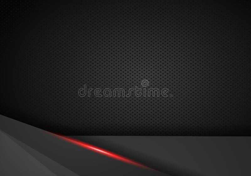 Abstrakcjonistyczna czerwień i czerń kontrastujemy technicznego korporacyjnego tło - wektor ilustracja wektor