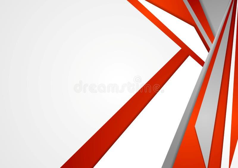 Abstrakcjonistyczna czerwień i popielaty wektorowy korporacyjny tło ilustracji