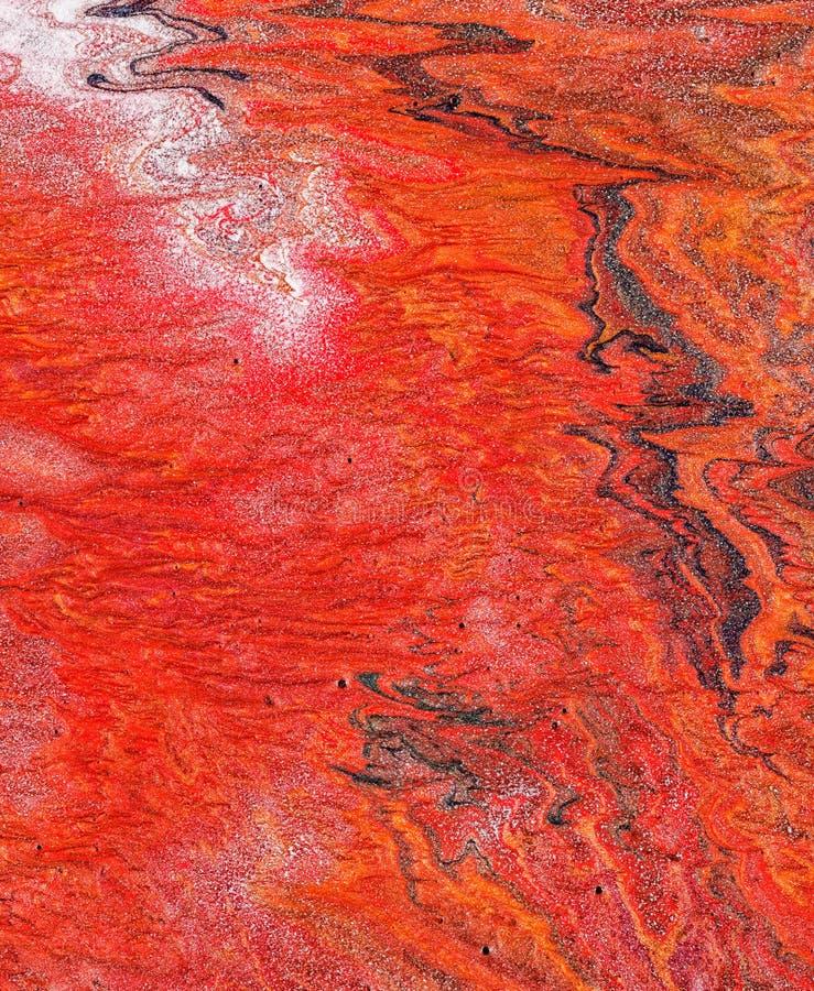 Abstrakcjonistyczna czerwień malujący tło obraz royalty free