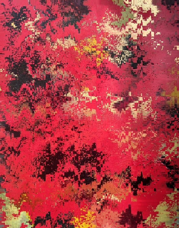 Abstrakcjonistyczna czerwień papieru tekstura ilustracja wektor