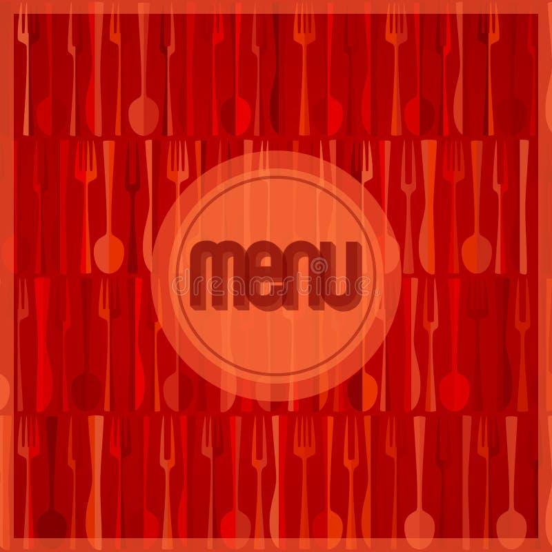Abstrakcjonistyczna czerwona nowożytna restauraci lub kawiarni menu karta ilustracja wektor