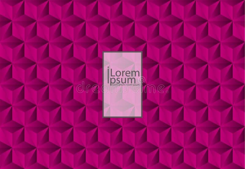 abstrakcjonistyczna czerwona tekstura Wektorowy tła 3d papier ilustracji