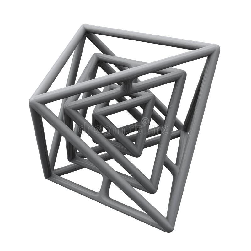 Abstrakcjonistyczna 3d budowa royalty ilustracja