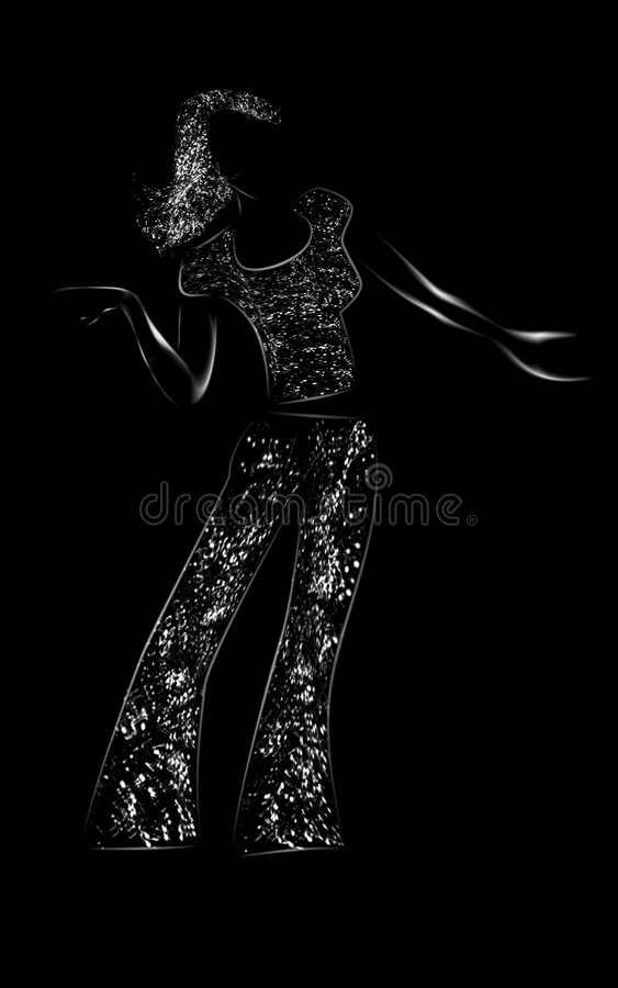 abstrakcjonistyczna dama ilustracji