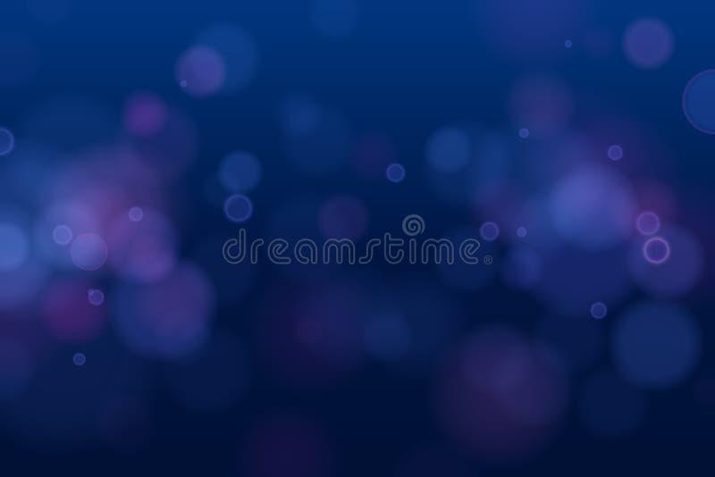 Abstrakcjonistyczna defocused kółkowa bokeh błyskotania błyskotliwość zaświeca tło magiczni tło boże narodzenia Elegancki, błyszc ilustracja wektor