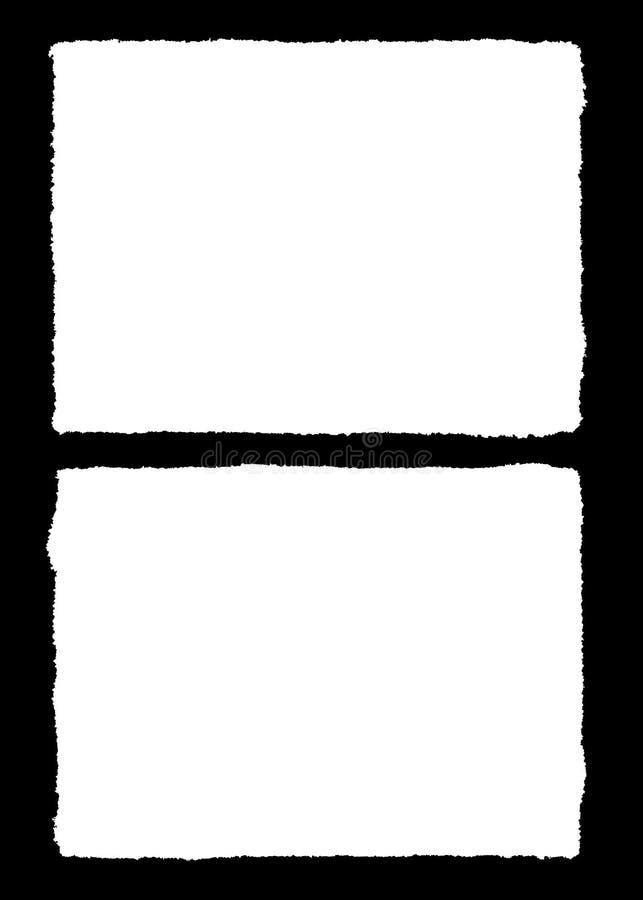 Abstrakcjonistyczna Dekoracyjna Czarna & Biała fotografii rama Typ tekst Wśrodku, Używa jako narzuta lub dla warstwy/ścinek maski ilustracji