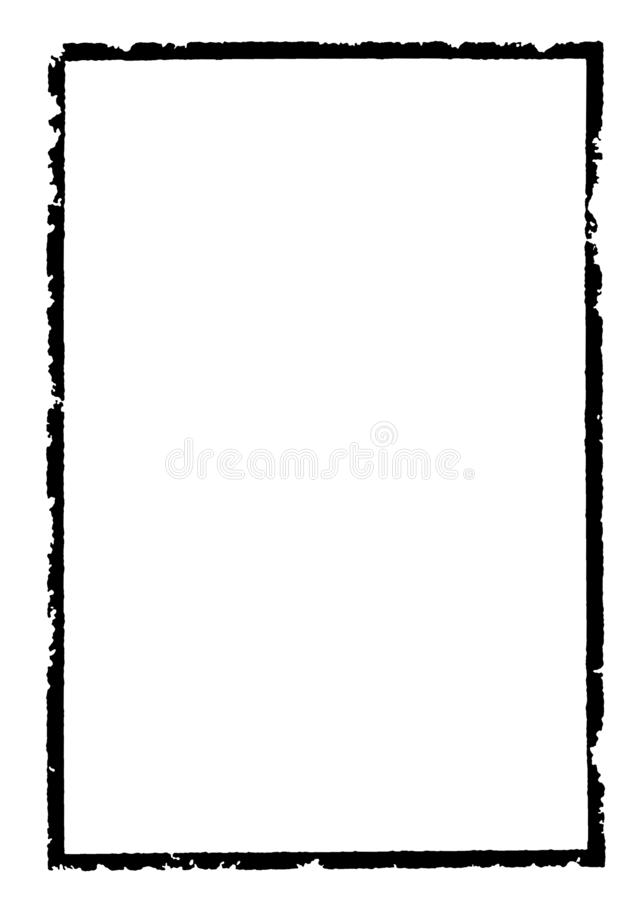 Abstrakcjonistyczna Dekoracyjna Czarna & Biała fotografii rama Typ tekst Wśrodku, Używa jako narzuta lub dla warstwy/ścinek maski ilustracja wektor