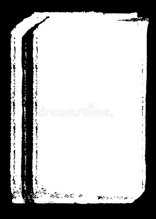Abstrakcjonistyczna Dekoracyjna Czarna fotografii krawędź, narzuta dla portret fotografii/ ilustracja wektor