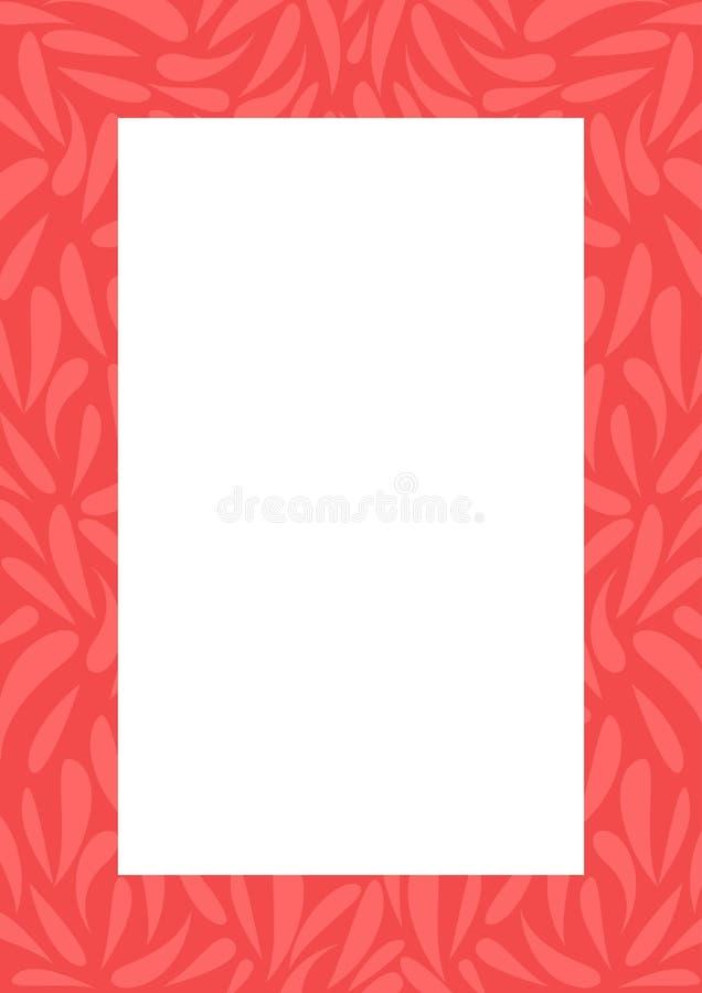 Abstrakcjonistyczna dekoracyjna czerwieni rama royalty ilustracja