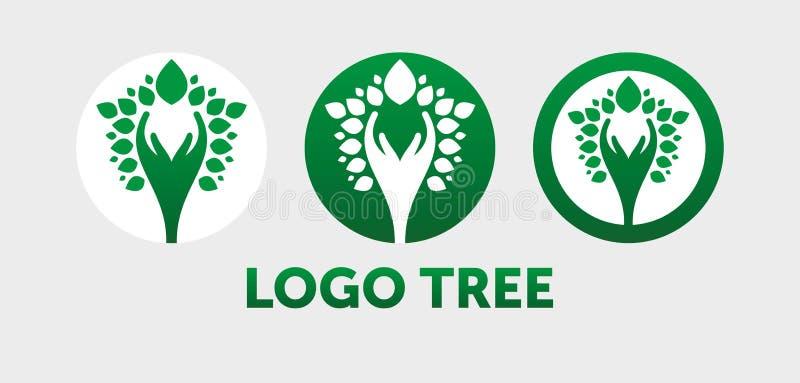 Abstrakcjonistyczna drzewna loga wektoru ilustracja royalty ilustracja