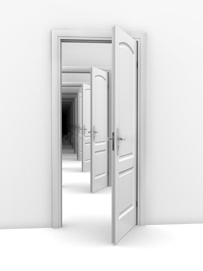 Abstrakcjonistyczna drzwi ilustracja royalty ilustracja