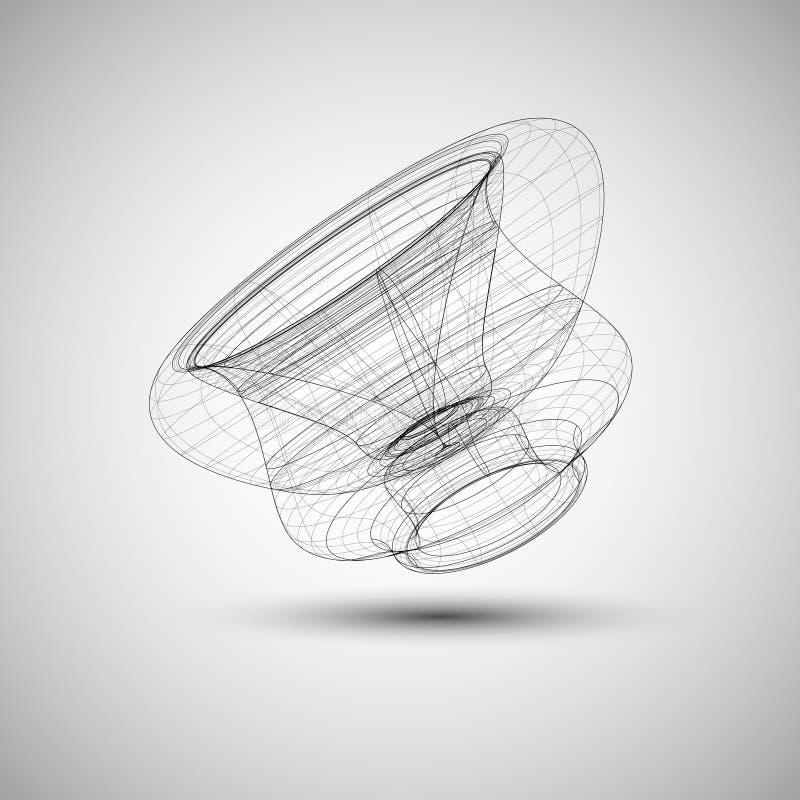 Abstrakcjonistyczna elegancka technologia royalty ilustracja