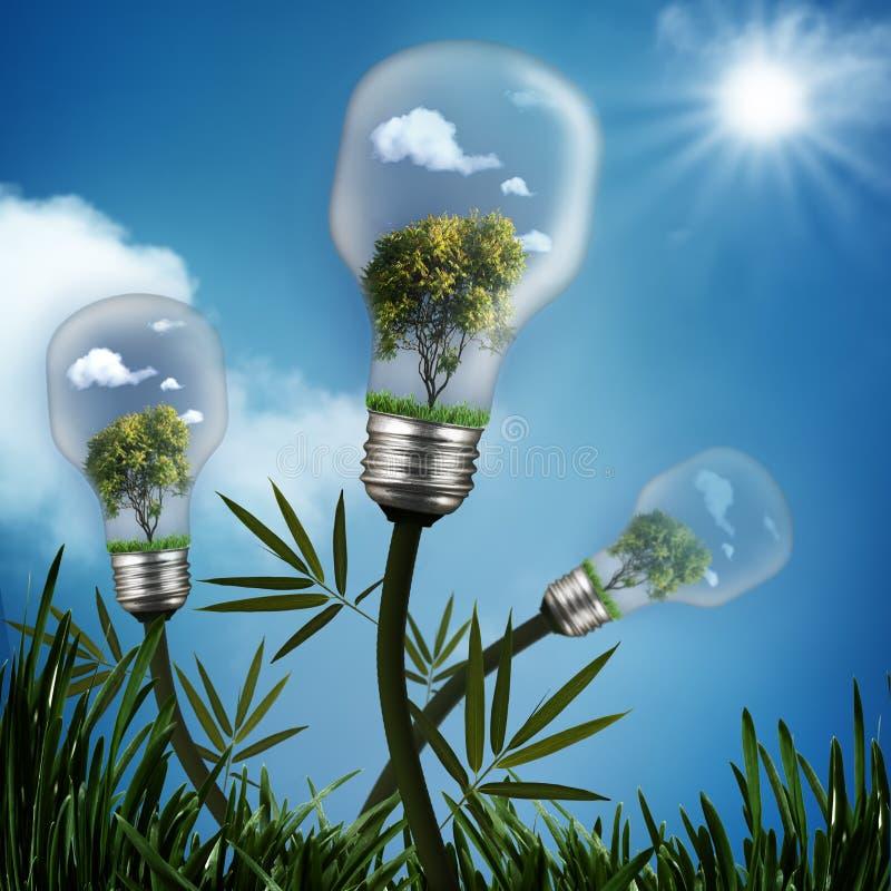 Abstrakcjonistyczna energia - oszczędzań tła obrazy stock
