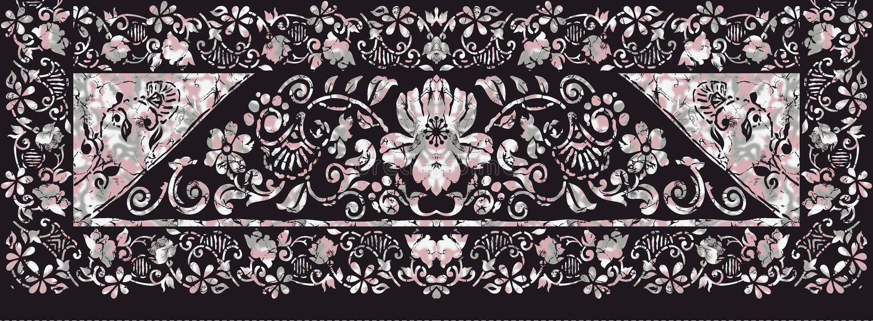 Abstrakcjonistyczna etniczna batic projekt tapeta royalty ilustracja