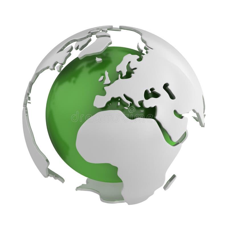 abstrakcjonistyczna Europe kuli ziemskiej zieleń ilustracja wektor