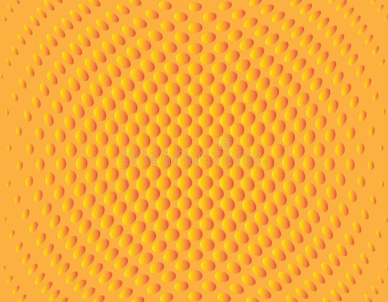 Abstrakcjonistyczna fala kropkujący halftone tła projekt obraz royalty free