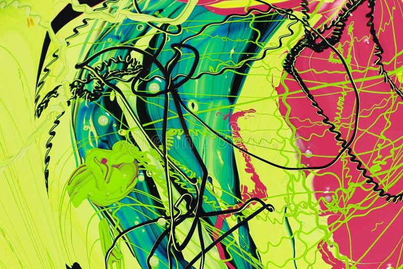 Abstrakcjonistyczna farba colours tło ilustracja wektor