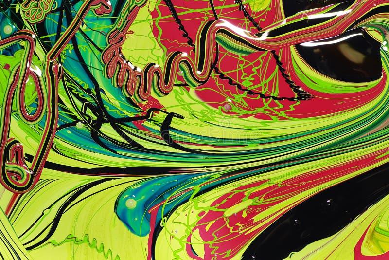Abstrakcjonistyczna farba colours tło royalty ilustracja