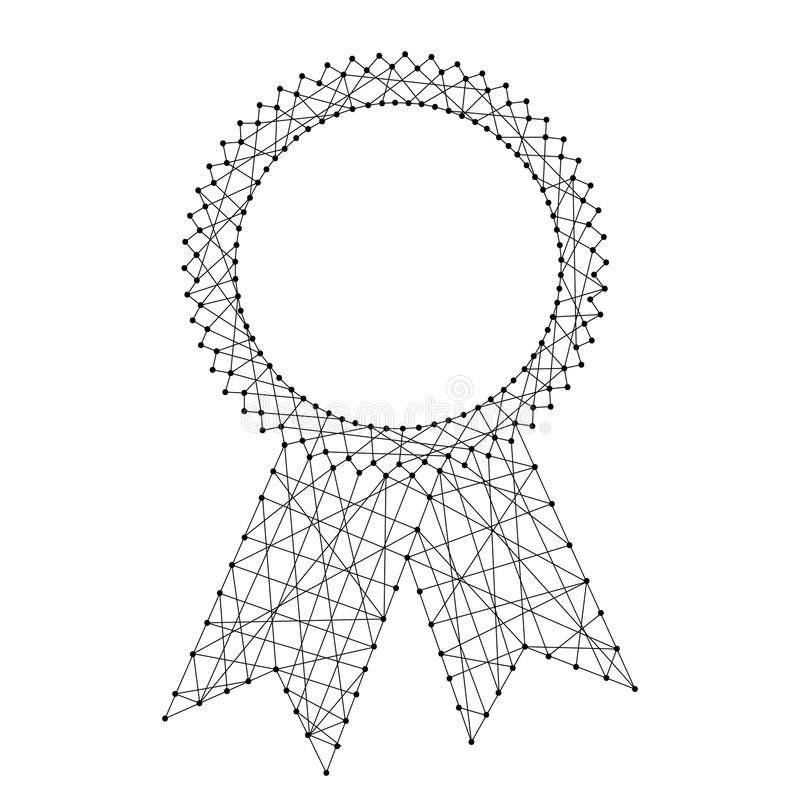 Abstrakcjonistyczna foki świadectwa nagroda z faborkami od futurystycznego polityka royalty ilustracja