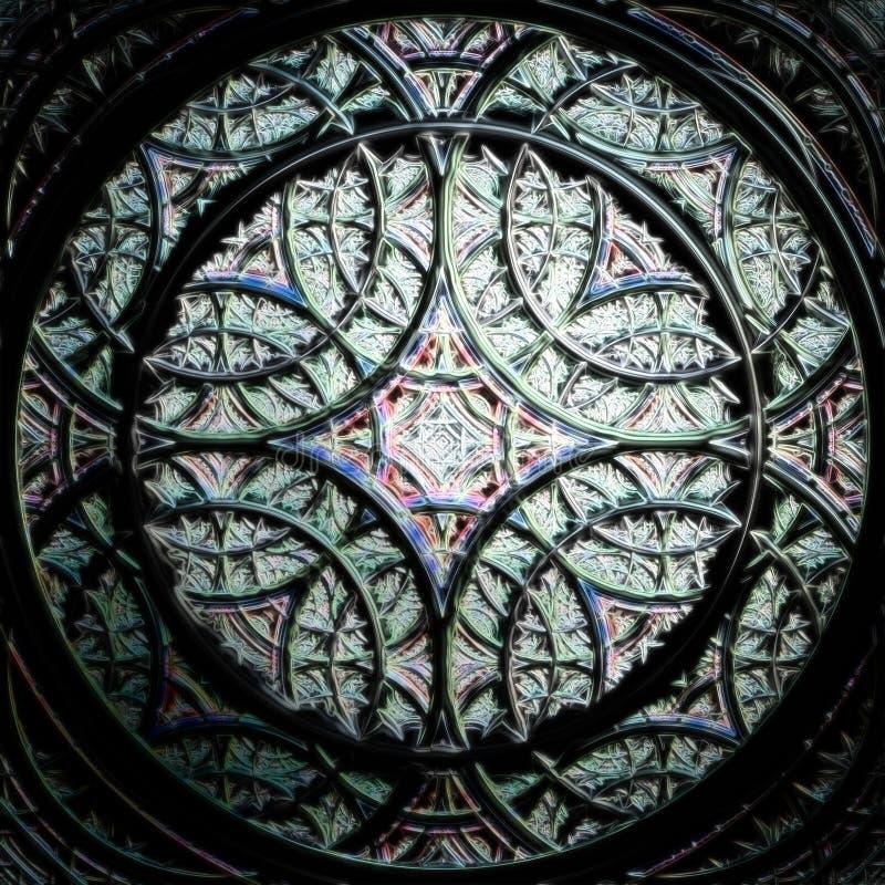 Abstrakcjonistyczna fractal różyczka ilustracji