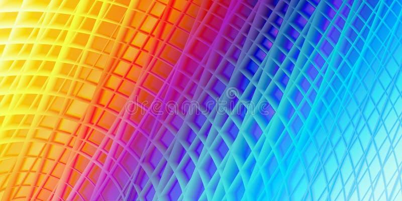 Abstrakcjonistyczna futurystyczna grunge technologii 3d tekstury tła colourful lekka rama royalty ilustracja