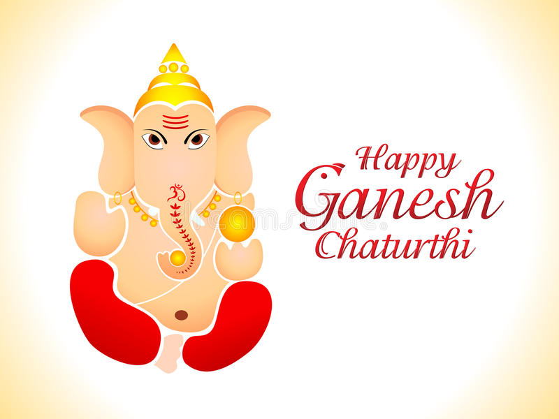 Abstrakcjonistyczna Ganesh Chaturthi Tapeta Fotografia Stock
