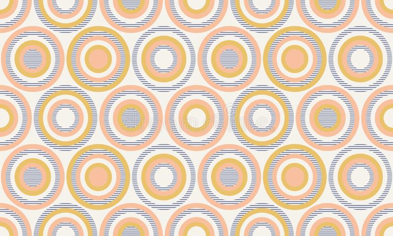 Abstrakcjonistyczna geometria w retro kolorach, geometryczny kształta geo wzór ilustracja wektor