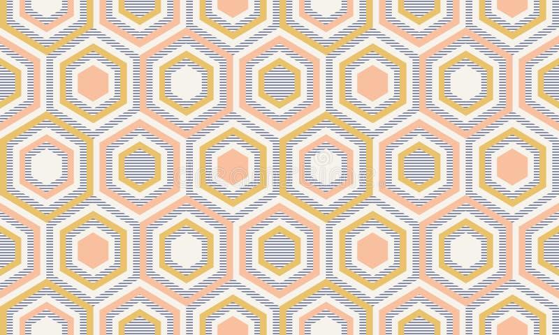Abstrakcjonistyczna geometria w retro kolorach, geometryczny kszta?ta geo wz?r royalty ilustracja
