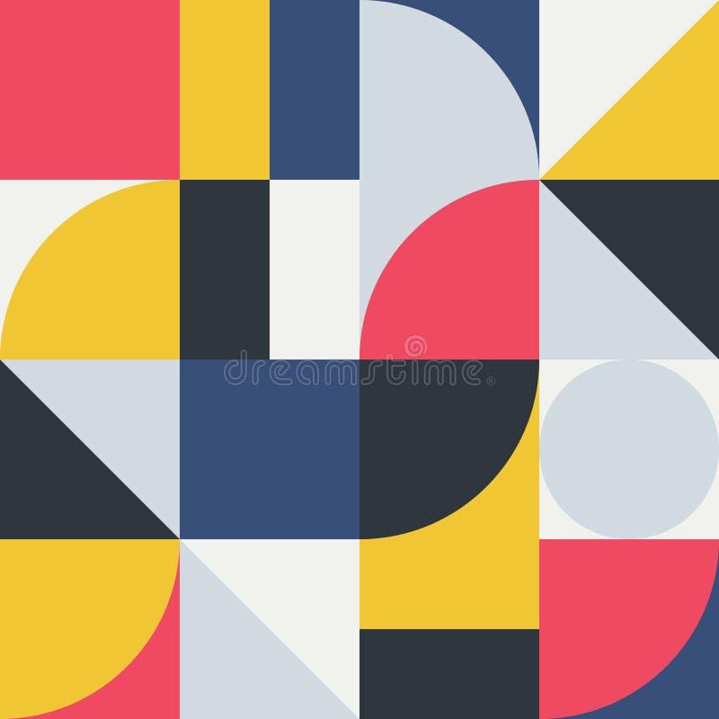 Abstrakcjonistyczna geometria wzoru grafika 06 ilustracja wektor