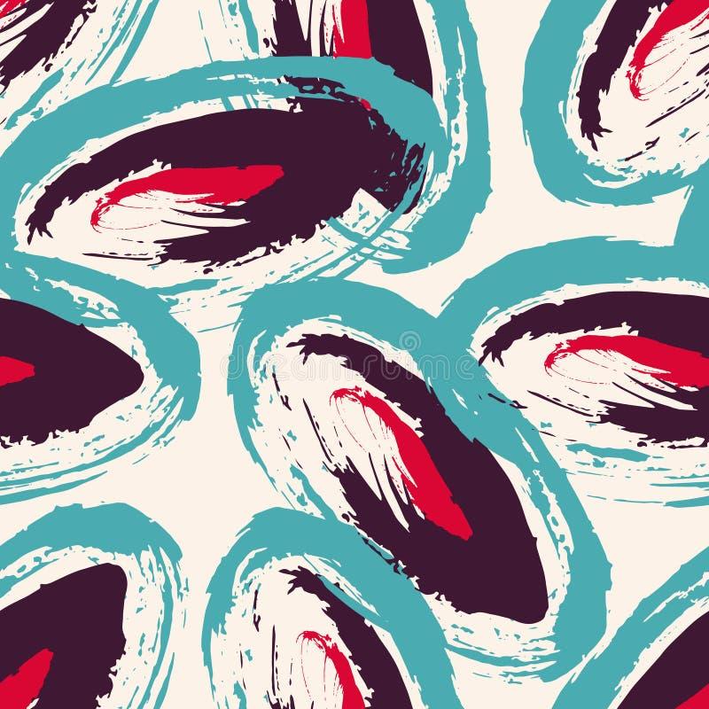 Abstrakcjonistyczna geometryczna barwiona bezszwowa deseniowa wektorowa ilustracja dla twój projekta royalty ilustracja
