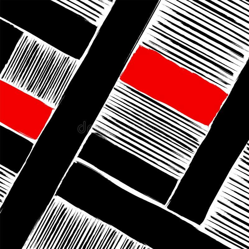 Abstrakcjonistyczna geometryczna grafika, muska i wykłada ilustracji